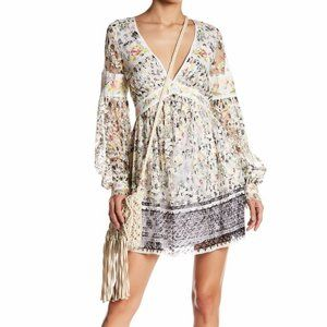 FREE PEOPLE Cherry Blossom Mini Dress in Ivory-2,4